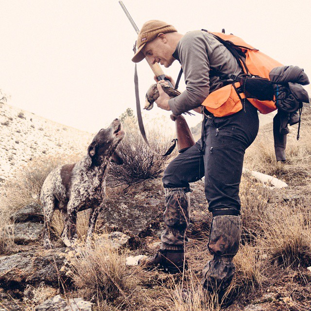 Tobi and I Chuckar hunting in Idaho.