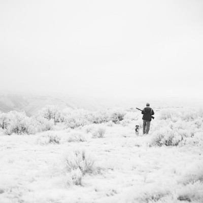 Tobi and Kory on their first hunt together at the top of the Deschutes.